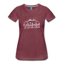 Load image into Gallery viewer, Women's Wanderlust T-Shirt (white) - heather burgundy
