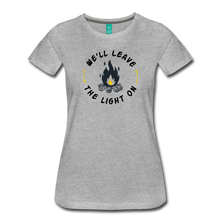 Load image into Gallery viewer, Women's We'll Leave the Light On T-Shirt - heather gray