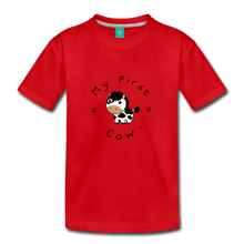 Load image into Gallery viewer, Toddler My First Cow T-Shirt - red