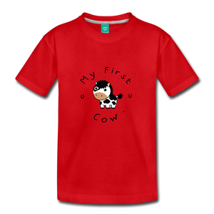 Toddler My First Cow T-Shirt - red