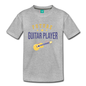 Kids' Guitar Player T-Shirt - heather gray