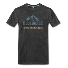 Load image into Gallery viewer, Men's Bluegrass Mountains Speak T-Shirt - charcoal gray