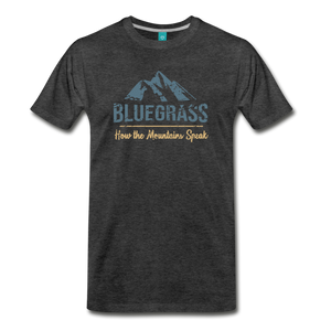 Men's Bluegrass Mountains Speak T-Shirt - charcoal gray