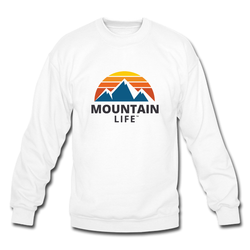 Mountain Life Sweatshirt - white