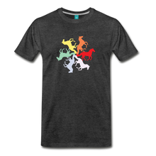 Load image into Gallery viewer, Men's Rainbow Horse Circle T-Shirt - charcoal gray