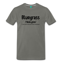 Load image into Gallery viewer, Men's Bluegrass Definition T-Shirt - asphalt