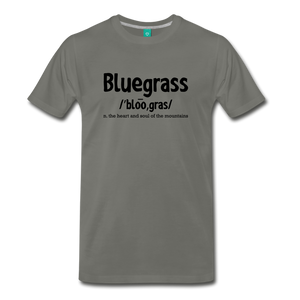 Men's Bluegrass Definition T-Shirt - asphalt