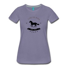 Load image into Gallery viewer, Women's Live to Ride T-Shirt - washed violet