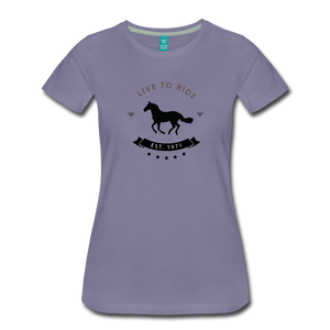 Women's Live to Ride T-Shirt - washed violet