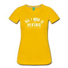 Load image into Gallery viewer, Women's All I Need is Hiking T-Shirt - sun yellow
