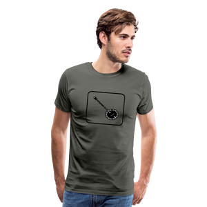 Men's Banjo Icon T-Shirt - asphalt gray