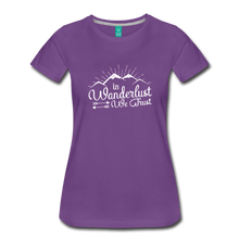 Load image into Gallery viewer, Women's Wanderlust T-Shirt (white) - purple