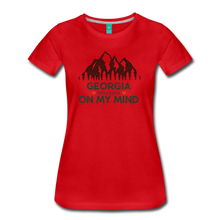 Load image into Gallery viewer, Women's Georgia on my Mind T-Shirt - red