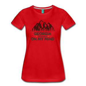 Women's Georgia on my Mind T-Shirt - red