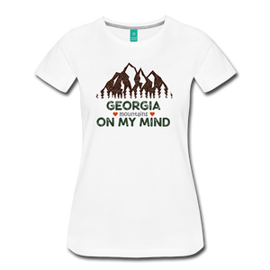 Women's Georgia on my Mind T-Shirt - white