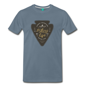 Men's Hiking Life T-Shirt - steel blue
