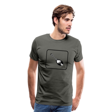 Load image into Gallery viewer, Men's Mandolin Icon T-Shirt - asphalt gray
