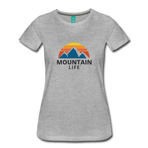 Women's Mountain Life Shirt - heather gray