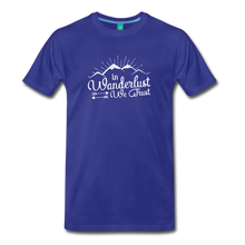 Load image into Gallery viewer, Men's Wanderlust T-Shirt (white) - royal blue