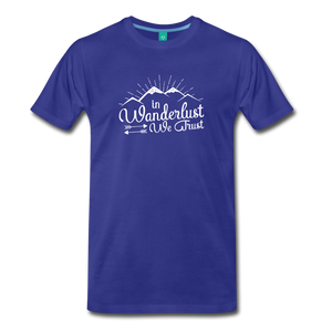Men's Wanderlust T-Shirt (white) - royal blue