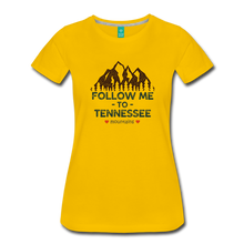 Load image into Gallery viewer, Women's Follow me to Tennessee T-Shirt - sun yellow