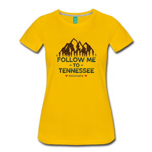 Women's Follow me to Tennessee T-Shirt - sun yellow