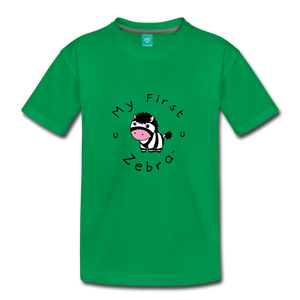 Toddler My First Zebra T-Shirt - kelly green