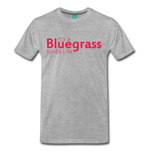 Load image into Gallery viewer, Men's Bluegrass Kinda Life T-Shirt - heather gray