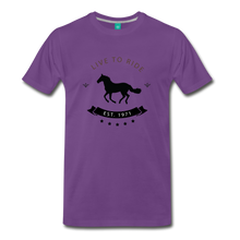 Load image into Gallery viewer, Men's Live to Ride T-Shirt - purple