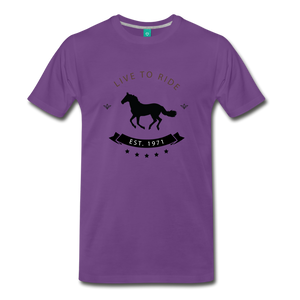 Men's Live to Ride T-Shirt - purple