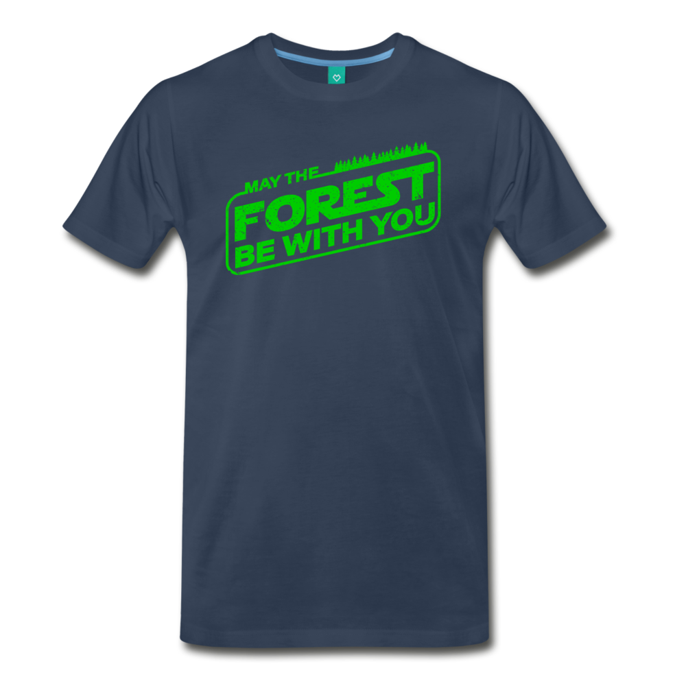 Men's May the Forest be with You T-Shirt - navy