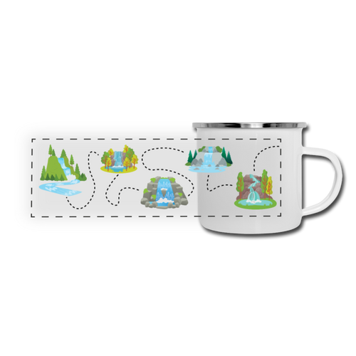Chasing Waterfalls Camper Mug - white