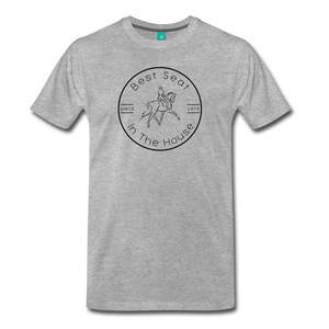Men's Best Seat in the House T-Shirt - heather gray