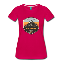 Load image into Gallery viewer, Women's Hiking T-Shirt - dark pink