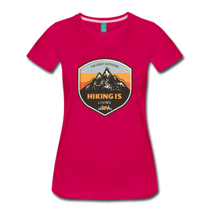 Women's Hiking T-Shirt - dark pink