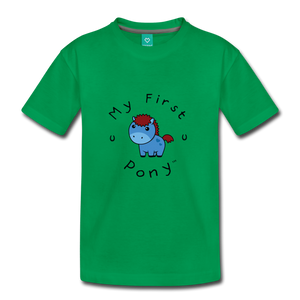 Kids' My First Pony T-Shirt (blue) - kelly green