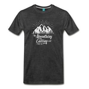 Men's Mountains T-Shirt (white) - charcoal gray