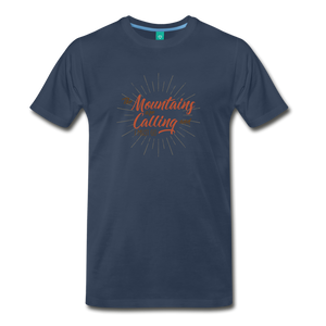 Men's Mountain Calling T-Shirt - navy