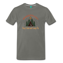 Load image into Gallery viewer, Men's Keep Calm, Camp On - asphalt