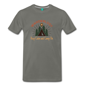 Men's Keep Calm, Camp On - asphalt