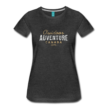 Load image into Gallery viewer, Women's Outdoor Adventure Canada T-Shirt - charcoal gray