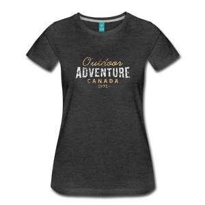Women's Outdoor Adventure Canada T-Shirt - charcoal gray
