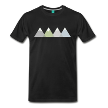 Load image into Gallery viewer, Men's Faded Mountains T-Shirt - black
