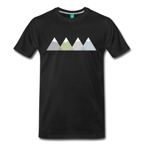 Men's Faded Mountains T-Shirt - black