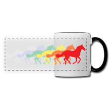 Load image into Gallery viewer, Rainbow Horses Mug - white/black