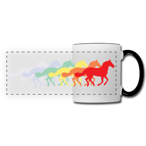 Rainbow Horses Mug - white/black