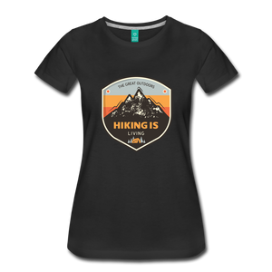 Women's Hiking T-Shirt - black