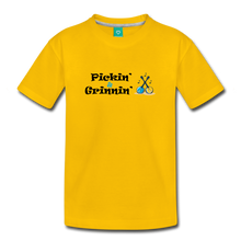 Load image into Gallery viewer, Kids' Pickin and Grinnin T-Shirt - sun yellow