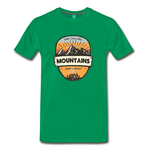 Men's Mountain's Calling T-Shirt - kelly green