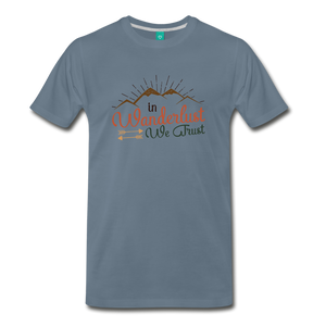 Men's Wanderlust T-Shirt - steel blue